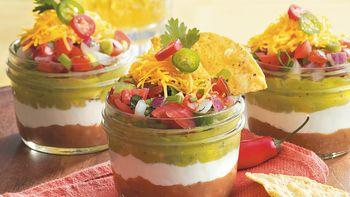Taco Dip in a Jar