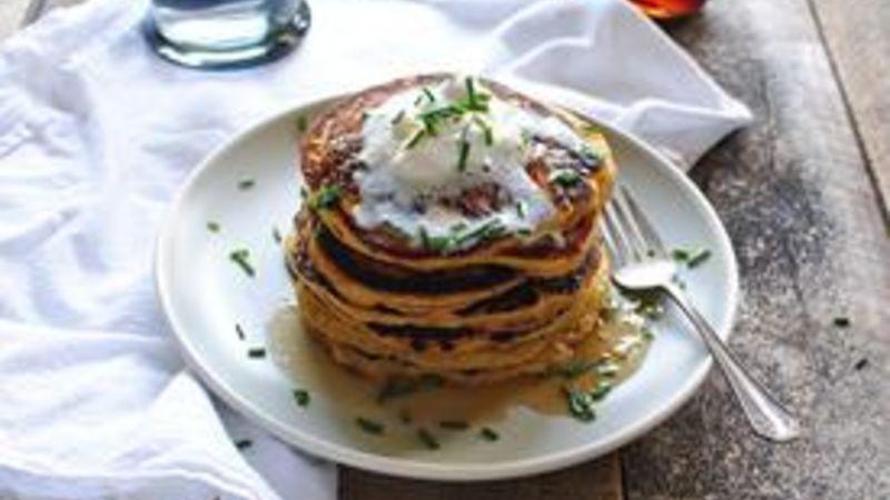 Roasted Acorn Squash and Shallot Pancakes
