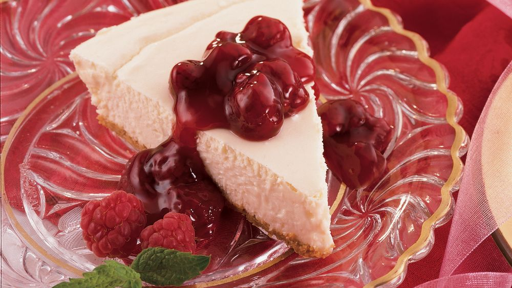 Raspberry-Topped Low-Fat Cheesecake