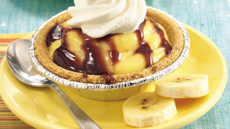 Banana-Chocolate Cream Tarts