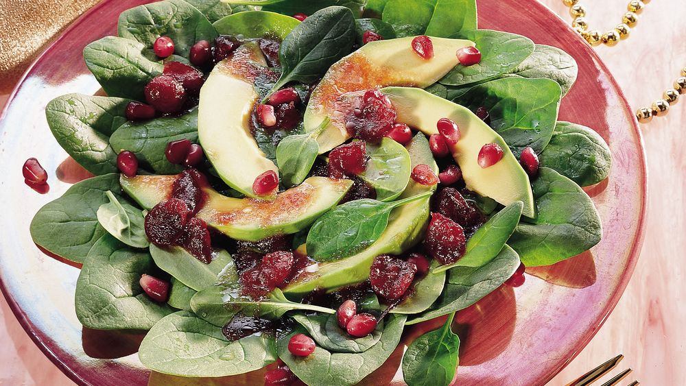 Spinach Salad with Cranberry Vinaigrette