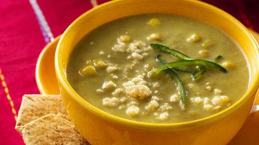Poblano and Corn Cream Soup