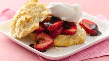 Balsamic Strawberry Shortcakes