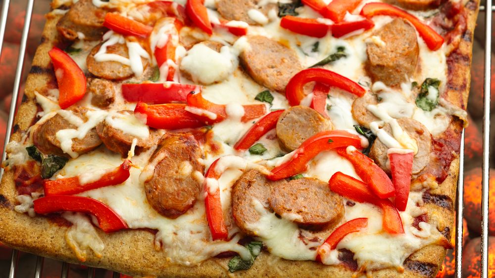 Grilled Sausage and Pepper Pizza