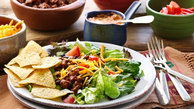 Easy Beef Taco Salads