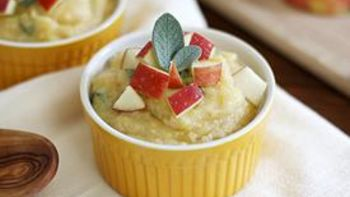 Apple-Brie Polenta with Sage