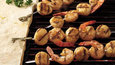 Barbecued Shrimp and Scallop Kabobs