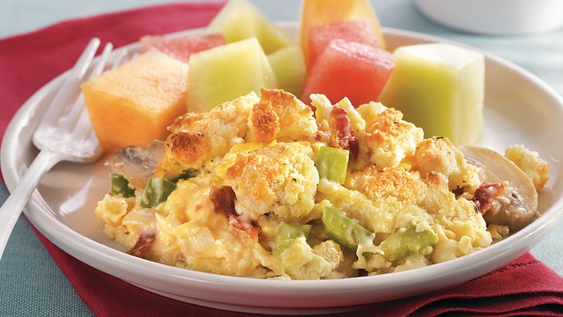 Alfredo Scrambled Egg Bake