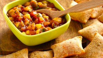 Quick Mango Salsa and Pizza Rolls®