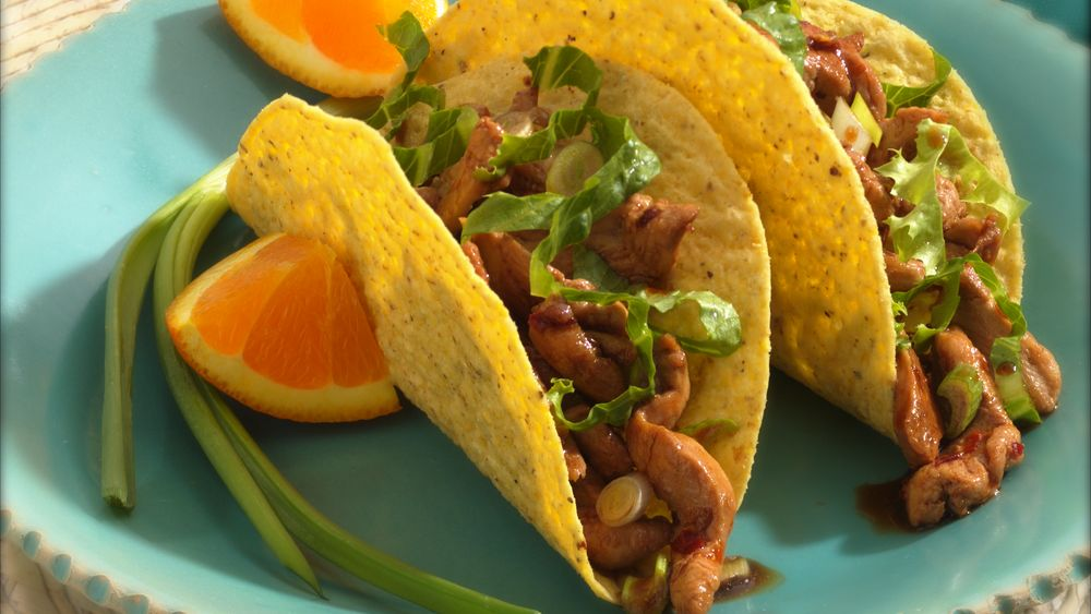 Spicy Chinese Chicken Tacos