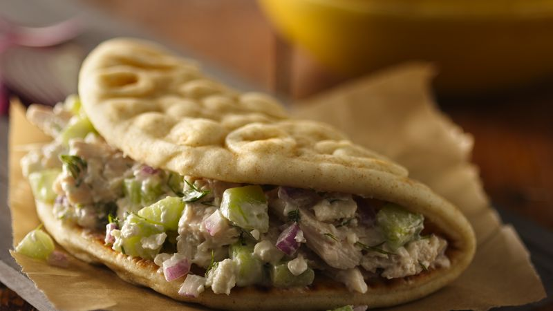Chicken Souvlaki Sandwiches