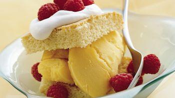 Mango Raspberry Shortcakes