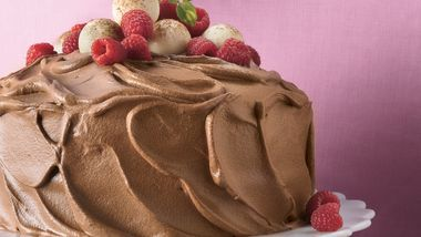 Chocolate Mousse-Raspberry Cake