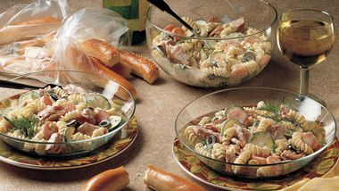 Dilled Pasta Salad with Smoked Fish
