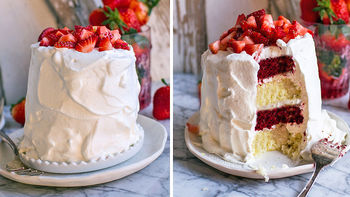 Red Velvet Strawberry Shortcakes