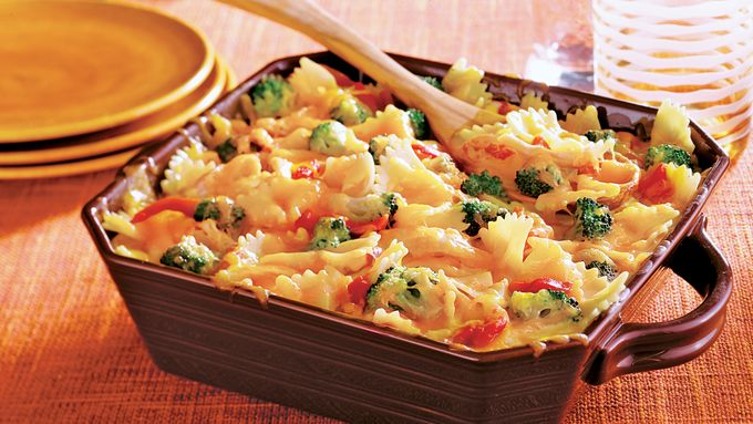 Chicken Veggie Alfredo Bake