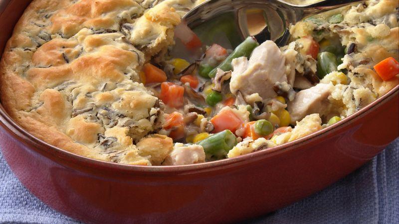 Wild Rice-Turkey Pot Pie