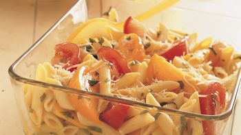 Penne Pasta and Fresh Tomatoes