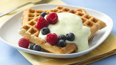 Lemon-Poppy Seed Waffles