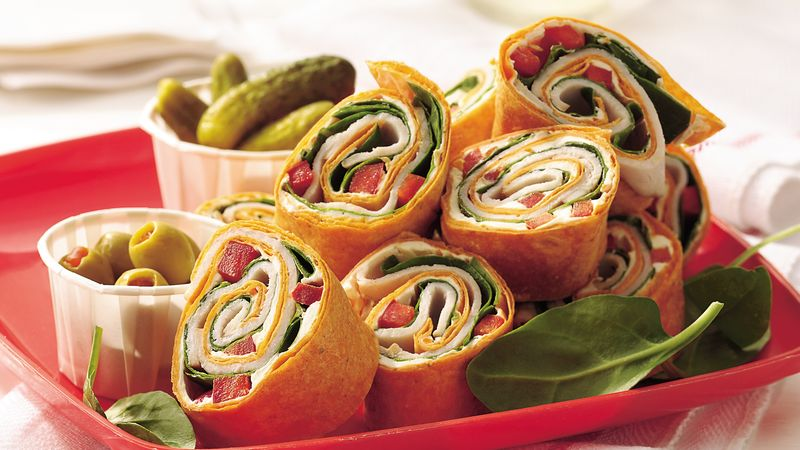 Turkey-Spinach Wraps