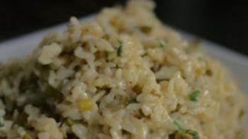 Garlic Scape Risotto