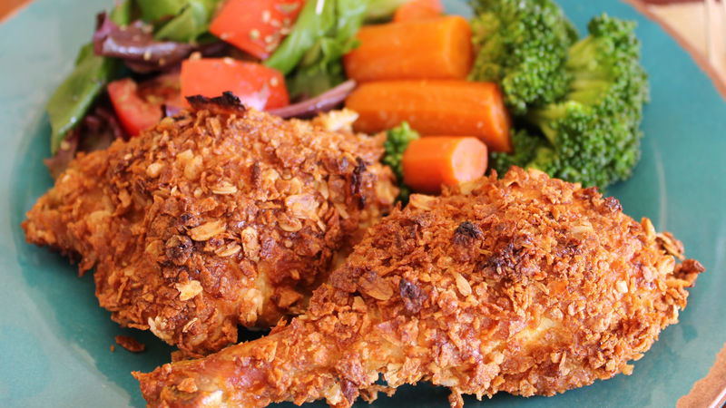 Honey Nut Oven Fried Chicken