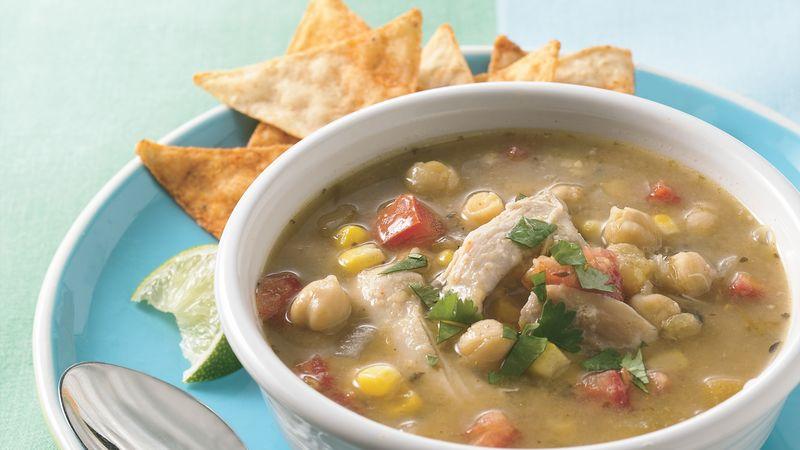 Slow-Cooker Chicken Verde Tortilla Soup