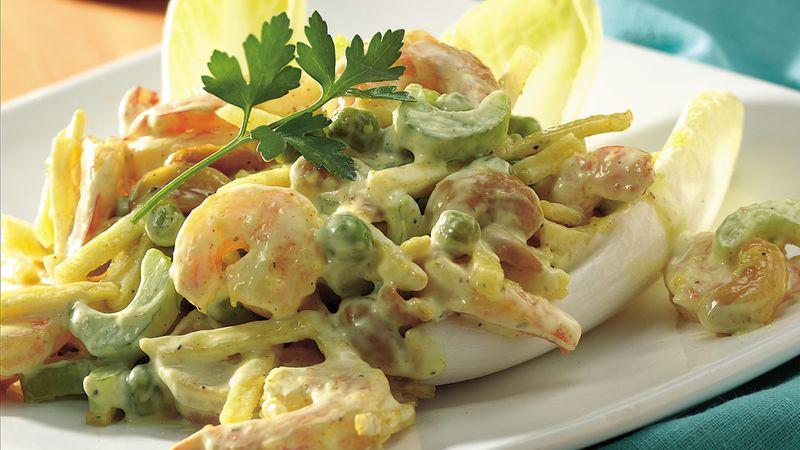Gluten-Free Cashew Curry Shrimp Salad