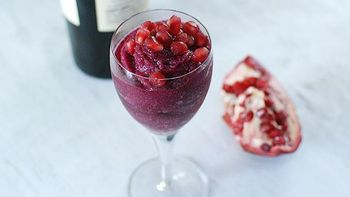 Pomegranate and Red Wine Sorbet