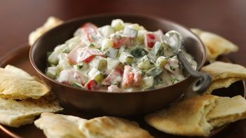 Cucumbers and Tomatoes in Yogurt