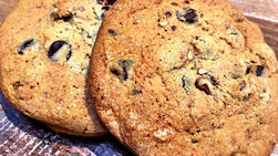 Plantain and Chocolate Cookies
