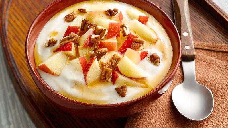 Maple-Pecan Apple Yogurt Bowl