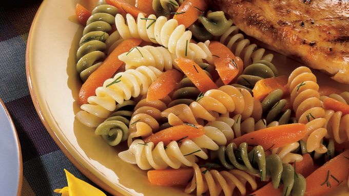 Dilly Buttered Carrots and Rotini
