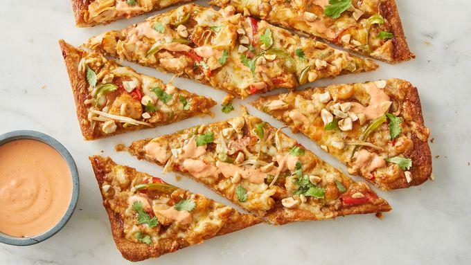 Sriracha Thai Chicken Pizza