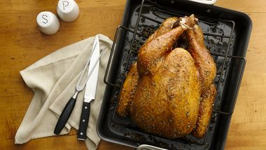 Herb-Scented Roast Turkey with Cornbread Stuffing