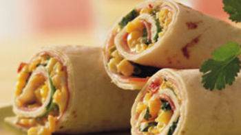 Ham and Cheese Tortilla Roll-Ups (lighter recipe)