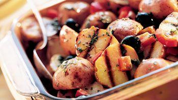 Mediterranean Grilled Potato Salad