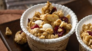 Easy Microwave Cranberry Almond Snack Mix