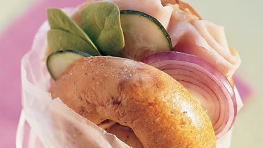 Mediterranean Turkey Bagelwiches
