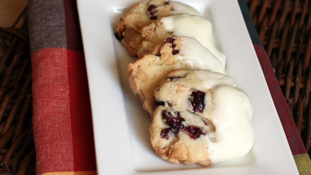White Chocolate-Cranberry Sugar Cookies