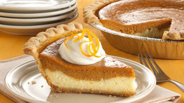 Layered Cream Cheese-Sweet Potato Pie