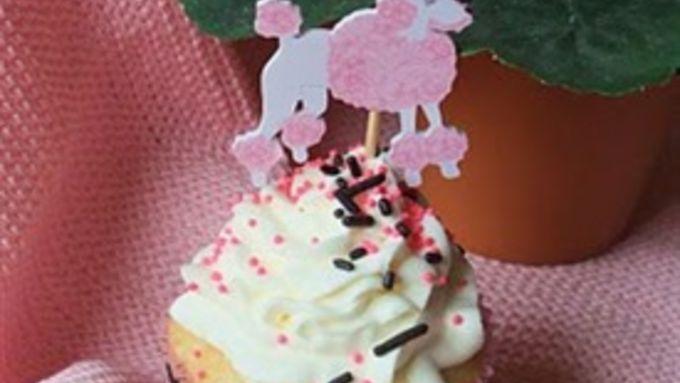 Ooh-la-la Pink Poodle Cupcake