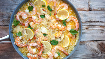Chicken and Shrimp Skillet Dinner