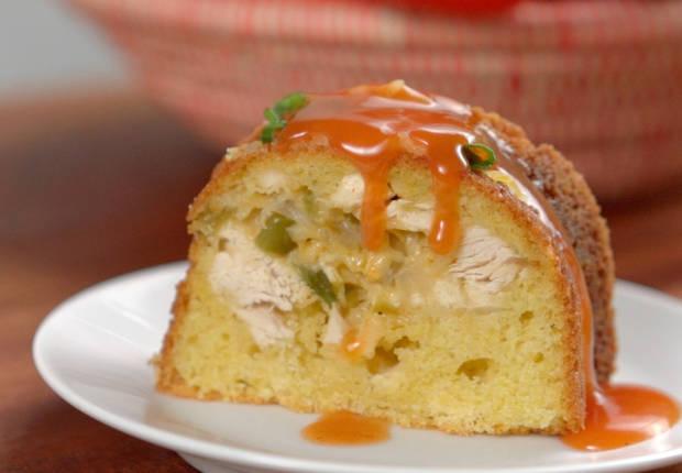 Chicken Enchilada Bundt Bread