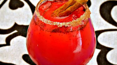 Cinnamon-Infused Strawberry Margaritas