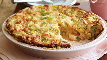 Shrimp and Artichoke Quiche recipe from Betty Crocker