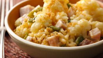 Cauliflower, Poblano and Ham Gratin