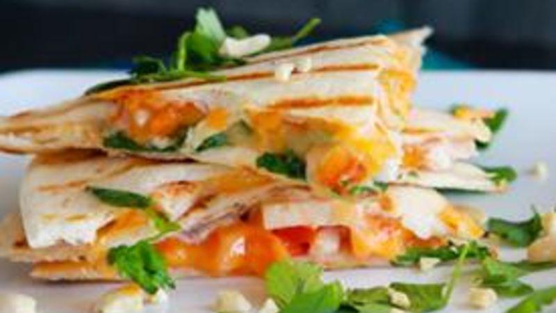 Skinny Thai Breakfast Quesadilla