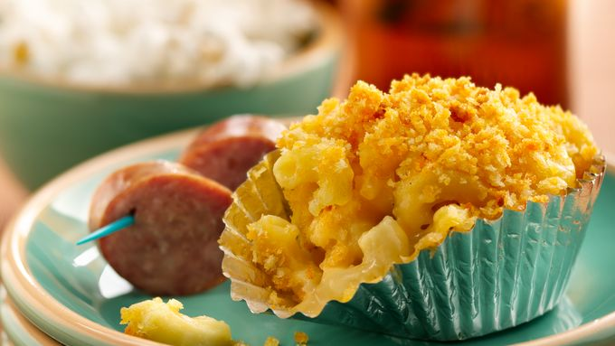 Mac and Beer Cheese Cups