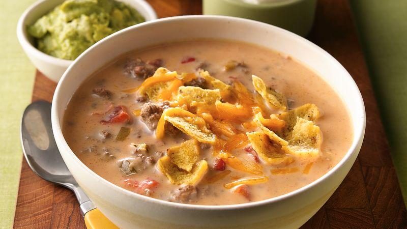 Beefy Nacho Soup